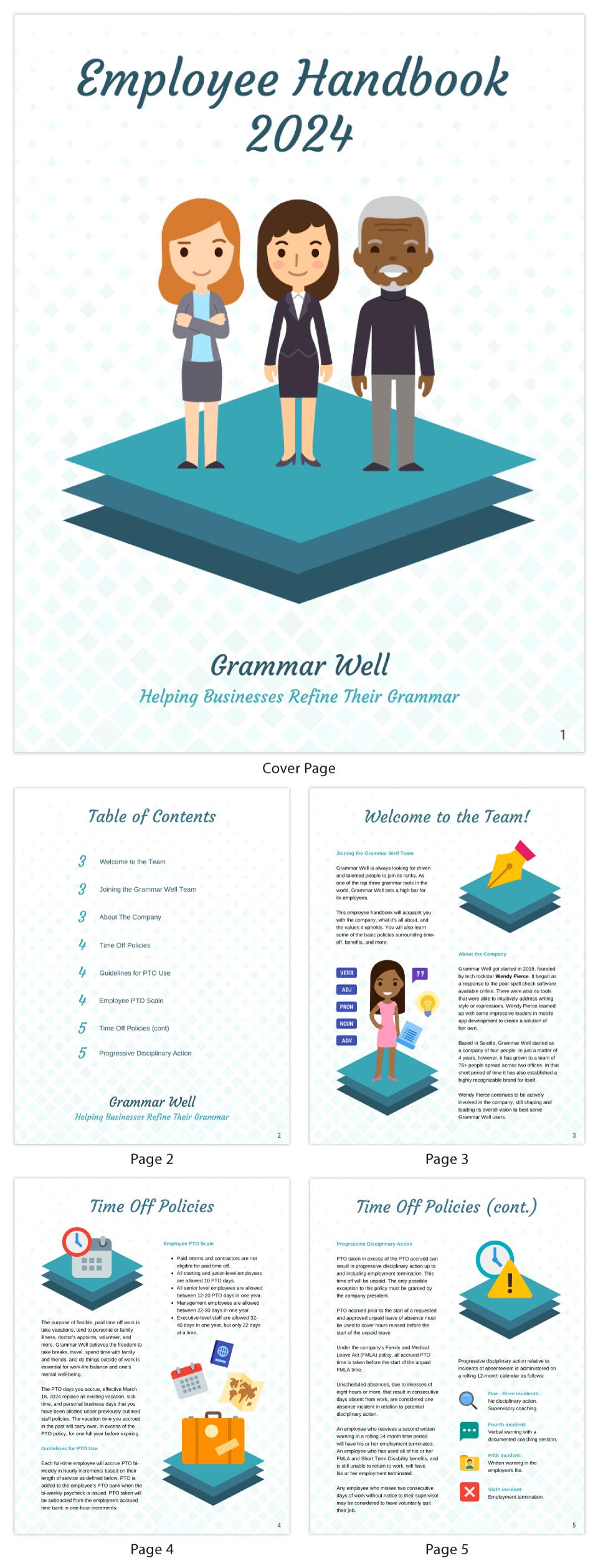 Visual Employee Handbook Template