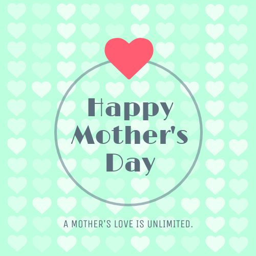Heart Mother's Day Card Template