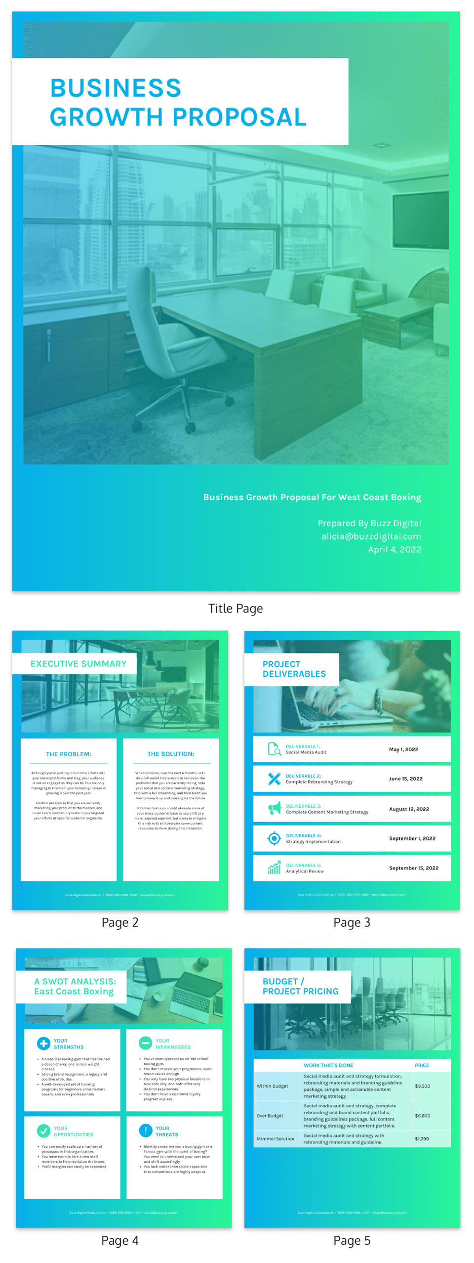 Vibrant B2C Consulting Proposal Template