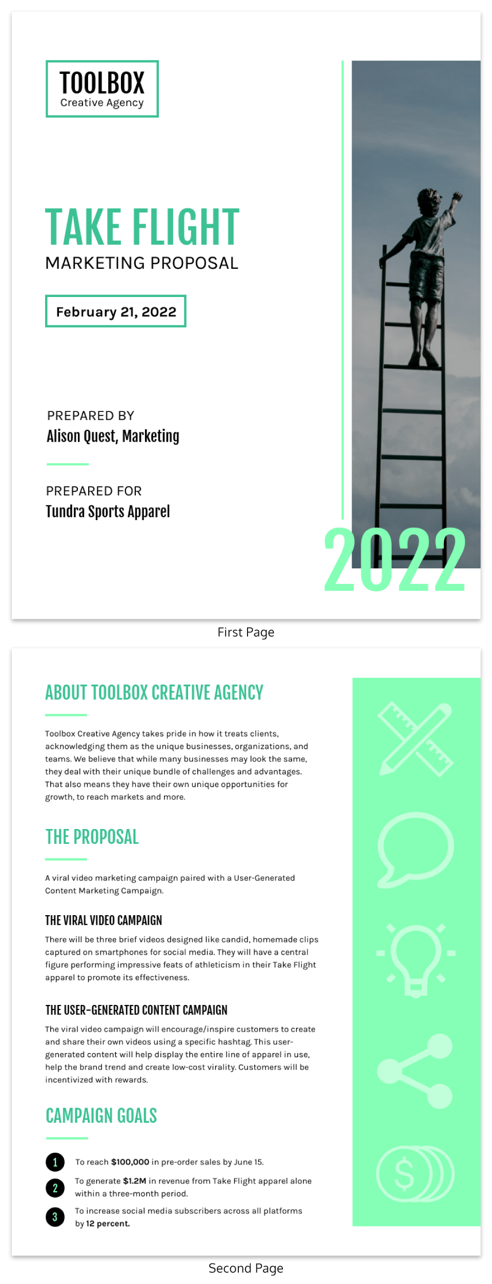 Green Modern Marketing Proposal Template
