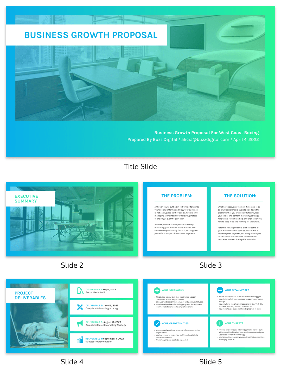 Vibrant B2C Consulting Presentation Template