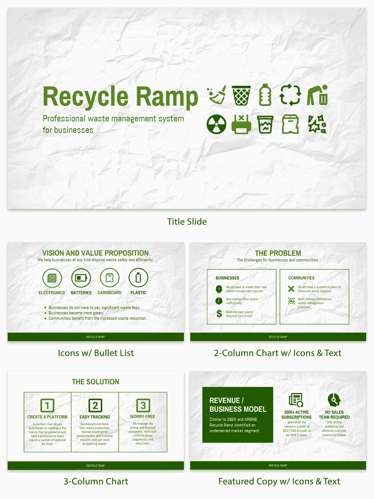 Green Startup Pitch Deck Template Venngage - Startup pitch deck template
