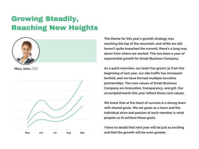 Company Growth Infographic Template