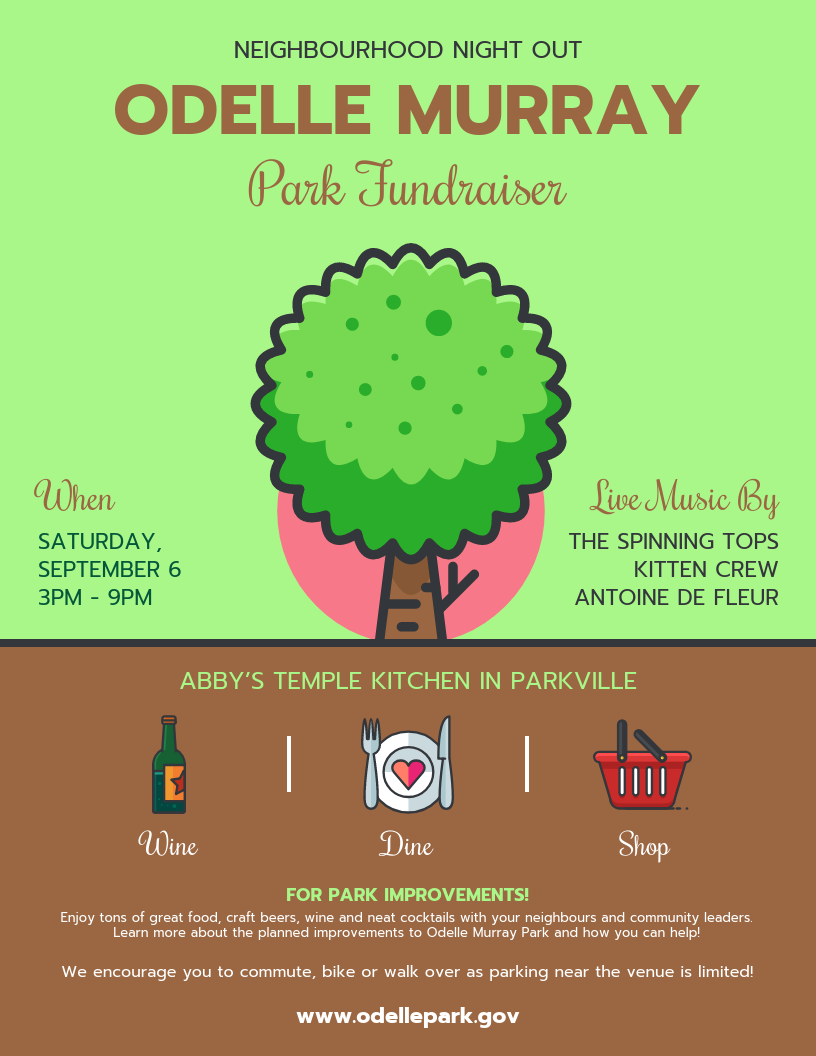 Green Park Fundraising Poster Template