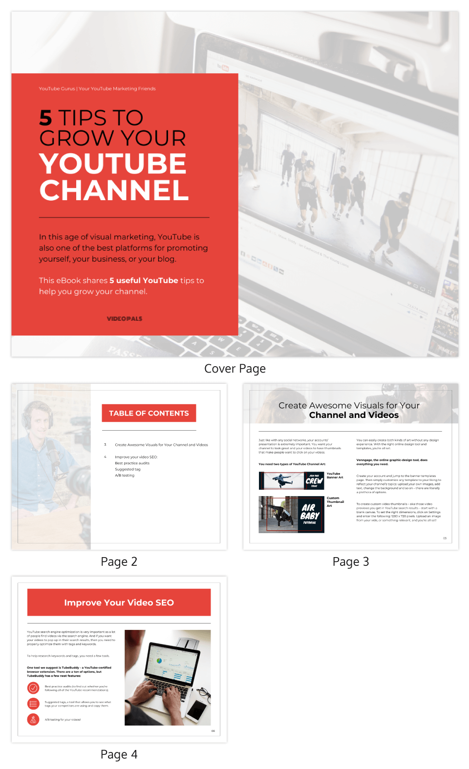 Tips to Grow Your Youtube Channel eBook Template