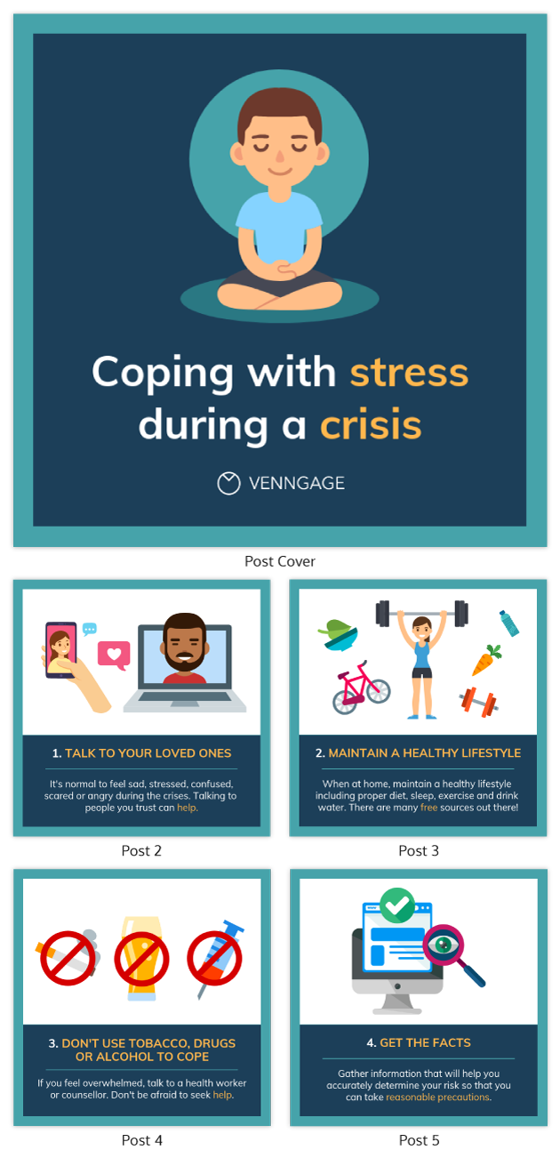 Coping With Stress During Crisis Carousel Post Template