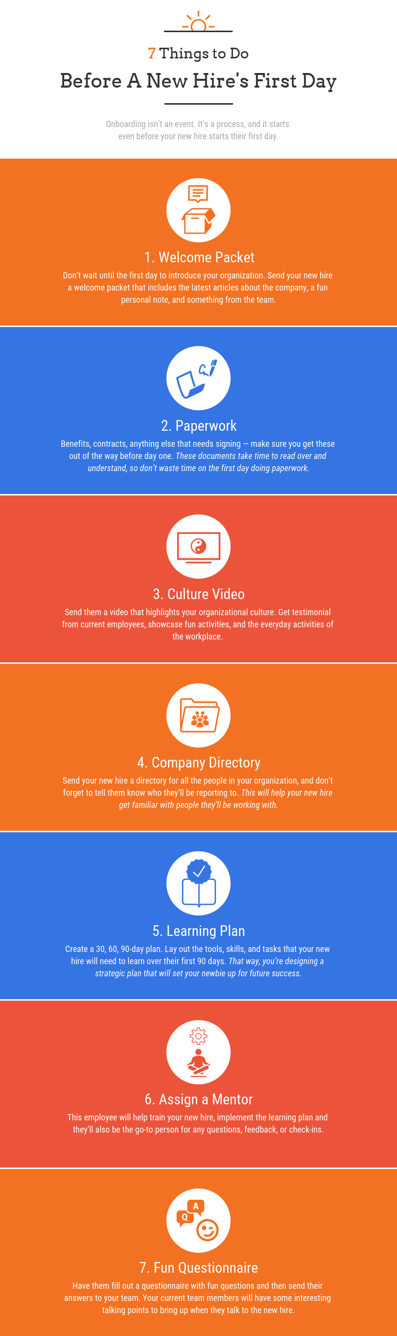 Employee Onboarding Infographic Template