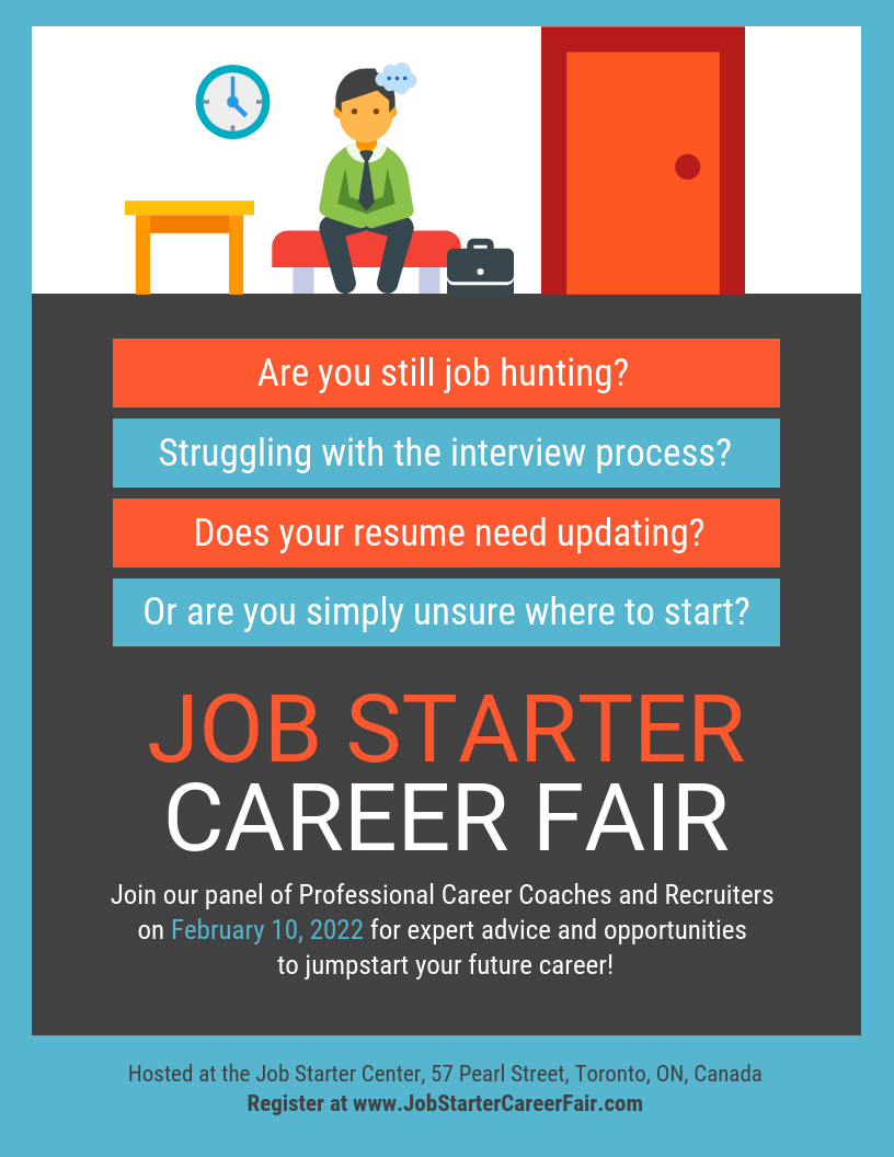 Job Fair Hiring Flyer Template