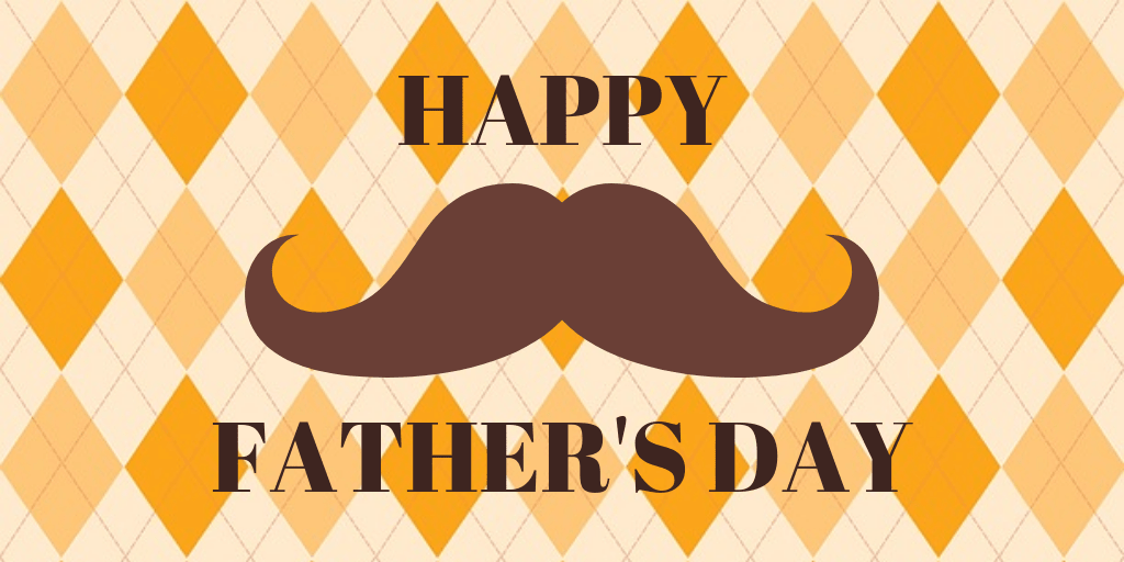 Mustache Father's Day Twitter Post Template