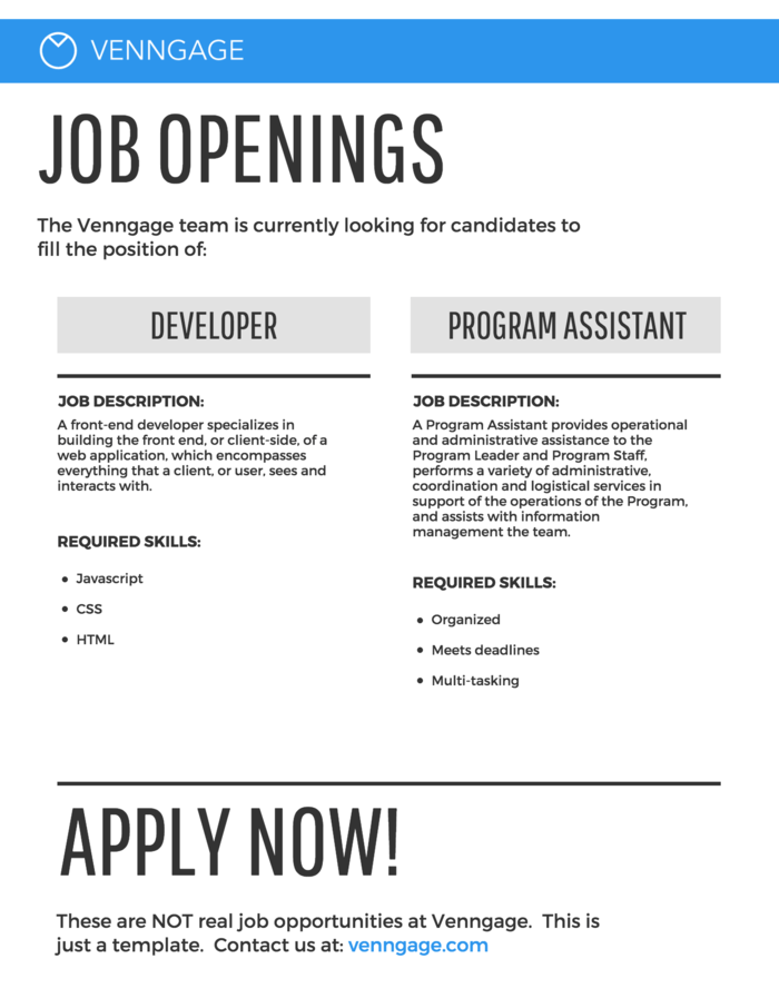 Job Posting Infographic Template