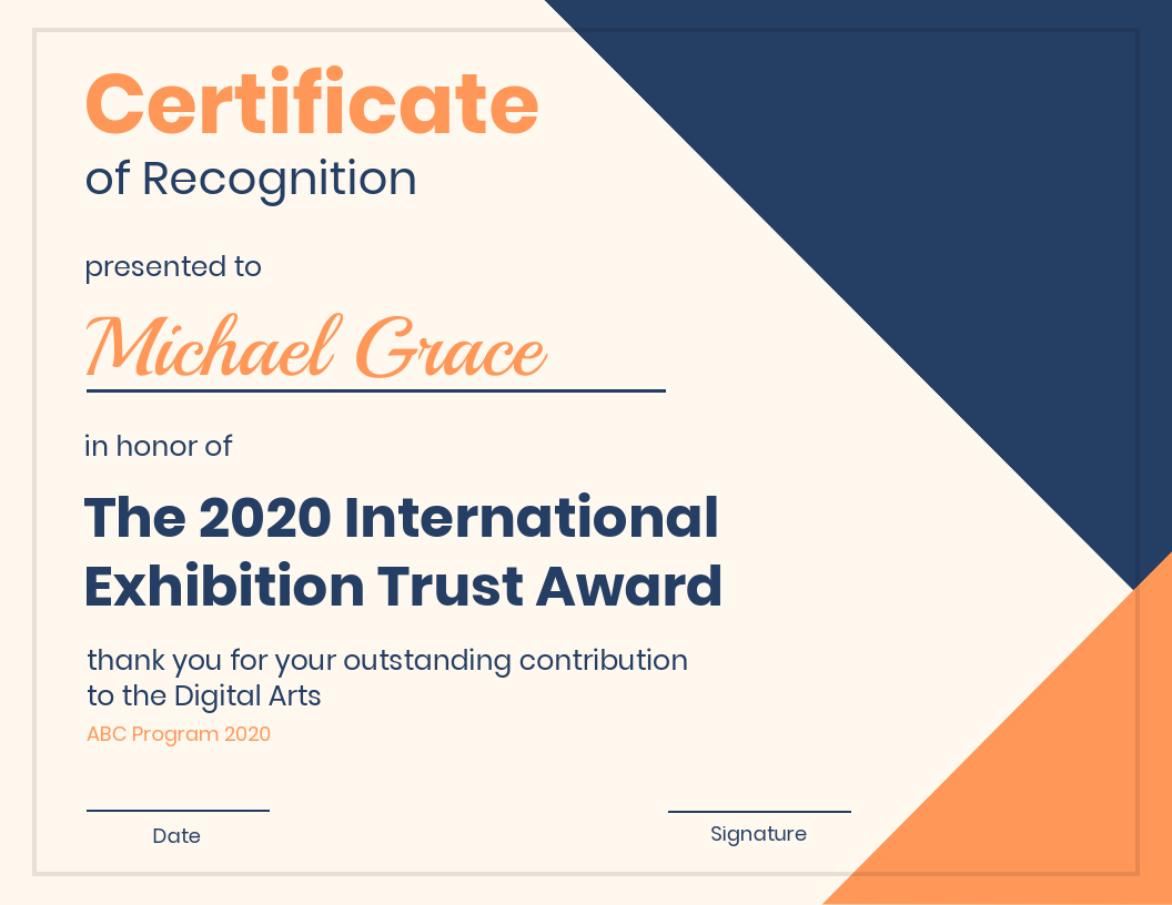 Modern Certificate Of Recognition Template Template Venngage