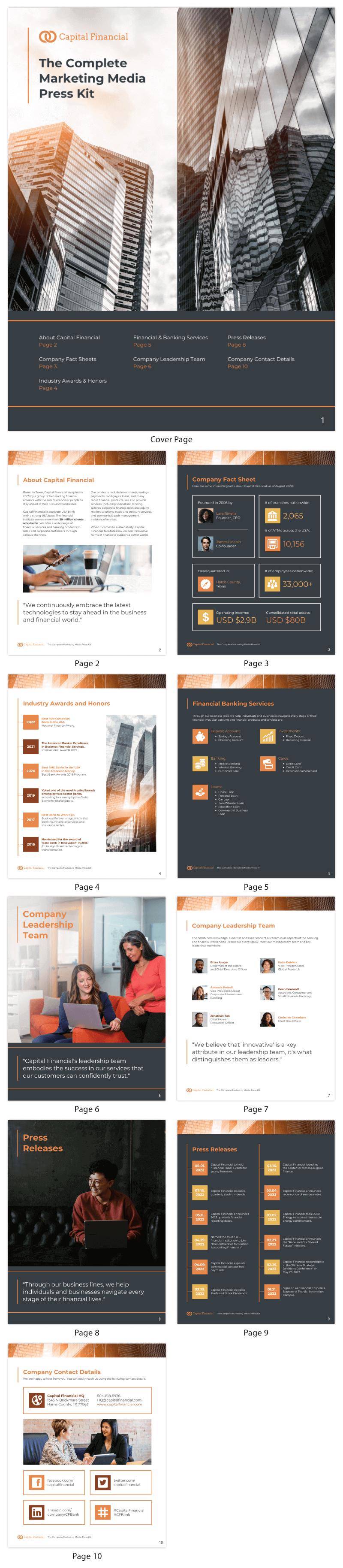 Bank Services Marketing Media Press Kit Template