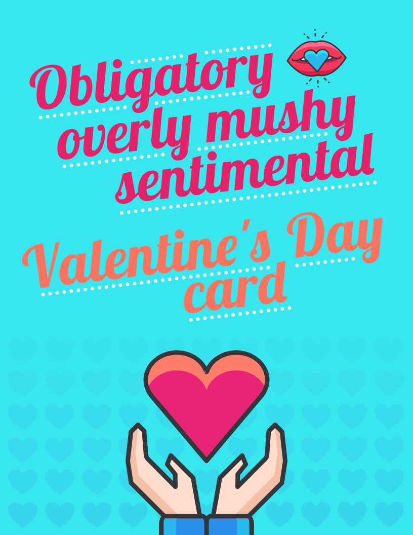 Creative Valentine's Day Card Template