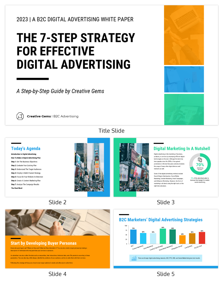 Modern Digital Marketing Presentation Template