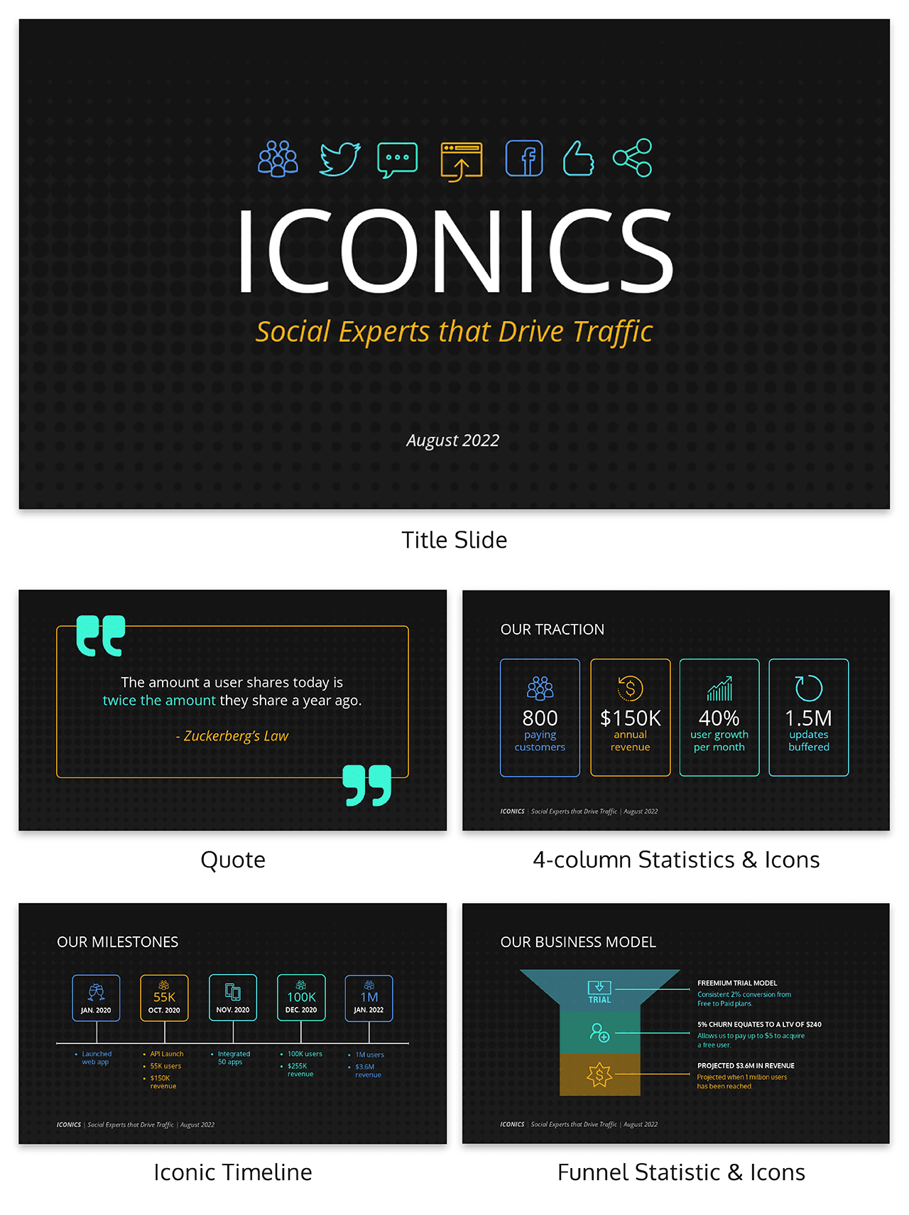 Iconics Pitch Deck Template