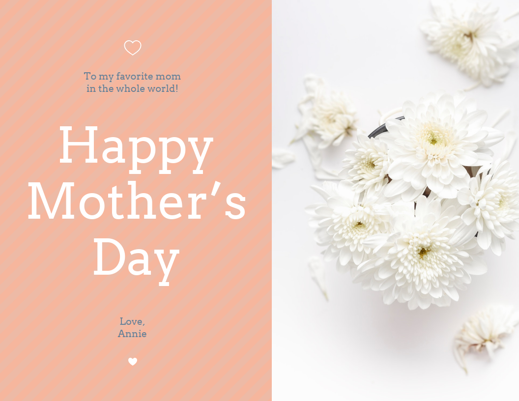 Floral Happy Mother's Day Card Template