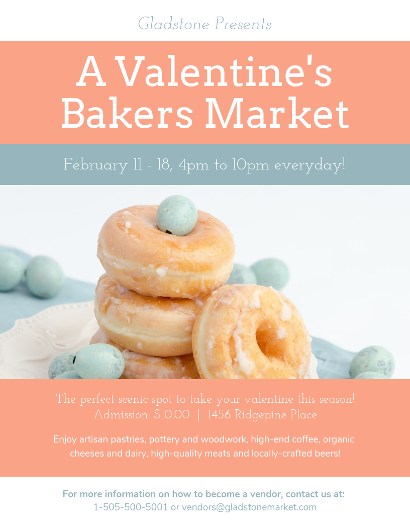 Baking Valentine's Day Event Flyer Template