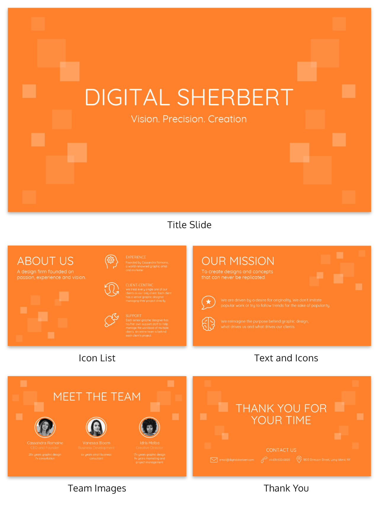Sherbert Business Presentation Template
