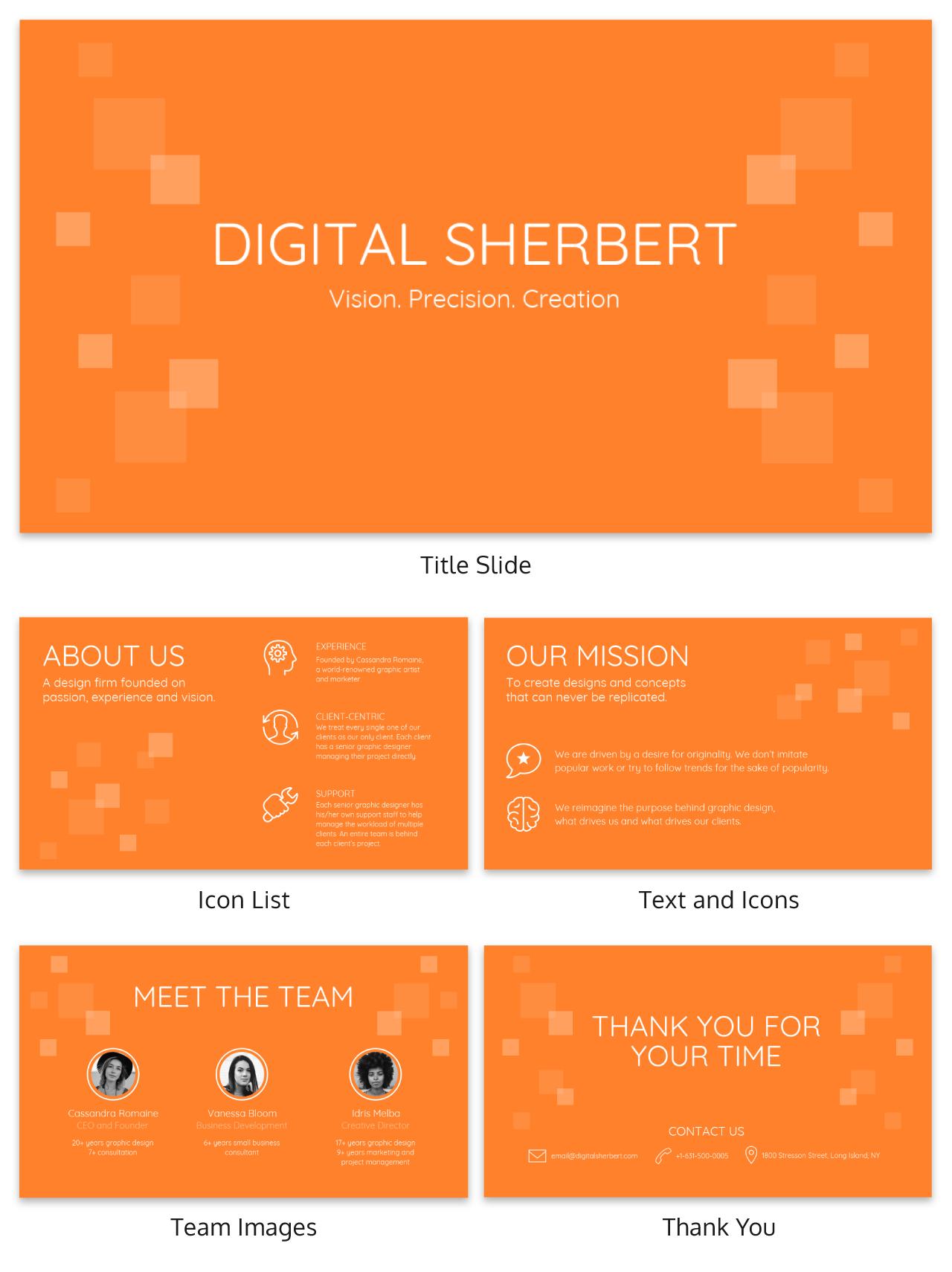 Sherbert Business Presentation Template
