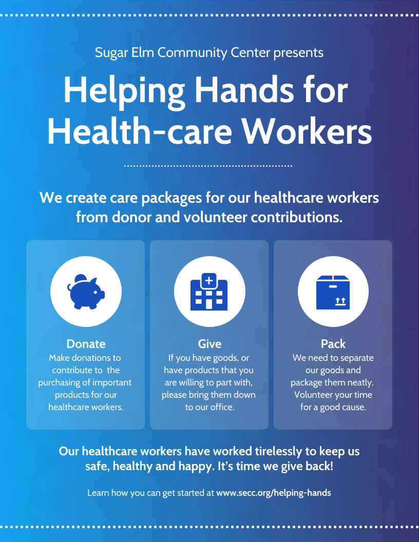 Support Healthcare Workers Community Event Poster Template