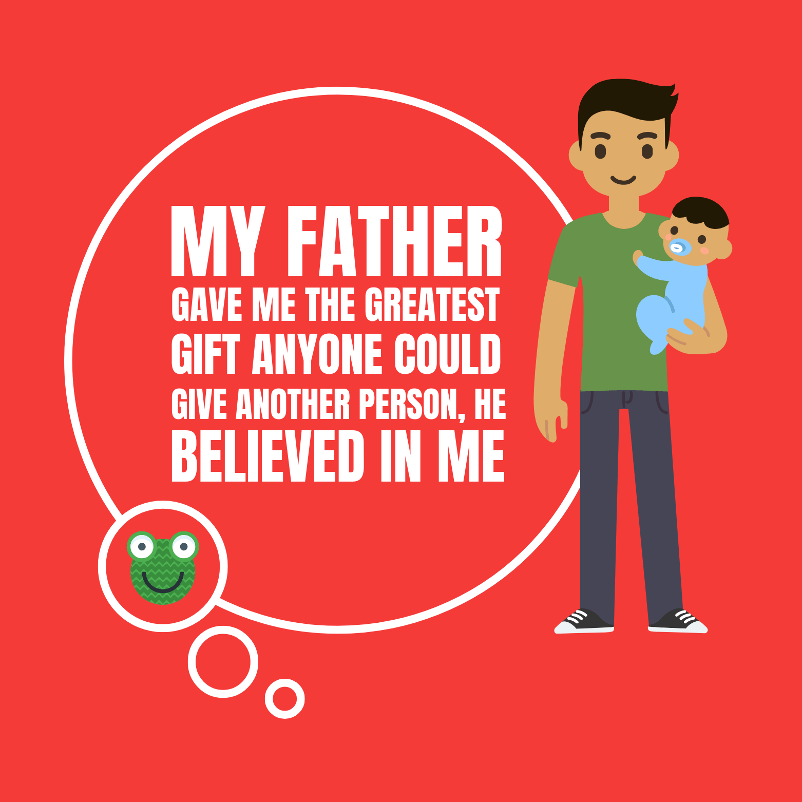 Caption Father's Day Social Media Post Template