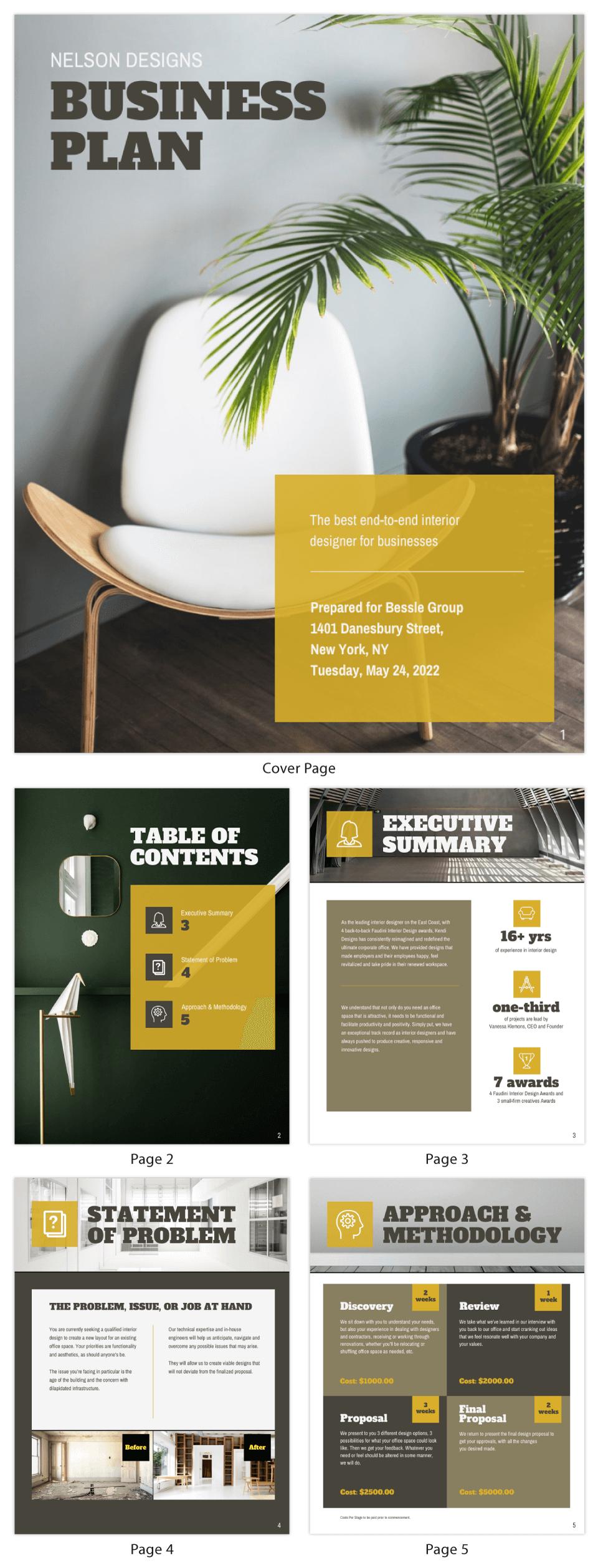 Interior Design Business Plan Template