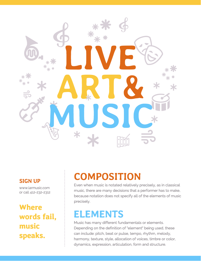 Arts & Music Event Poster Template