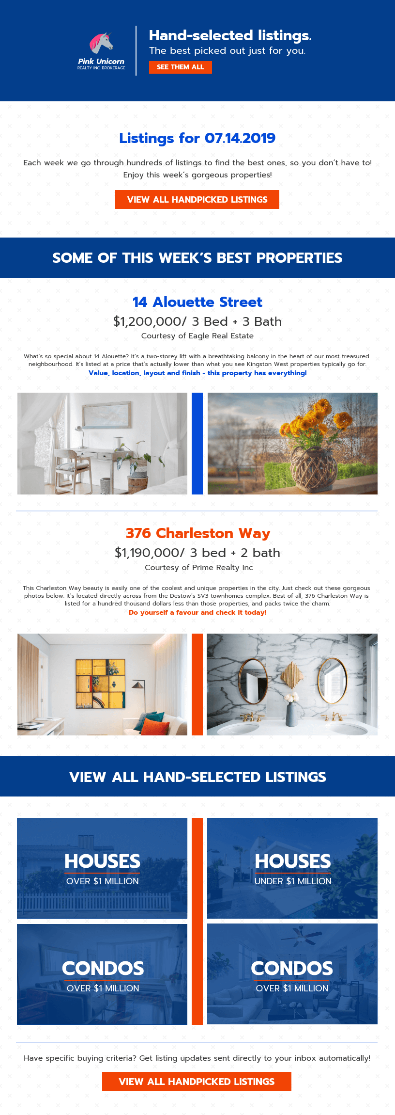 Bold Real Estate Newsletter Template