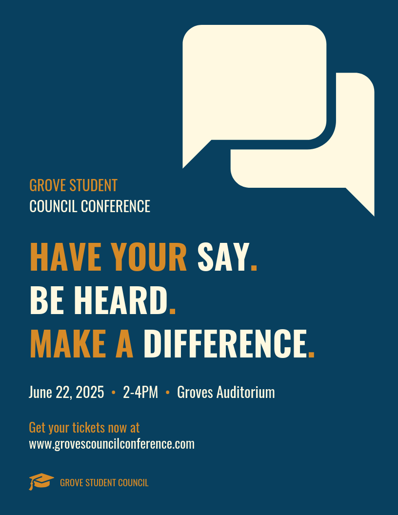 Vintage Student Conference Event Poster Template