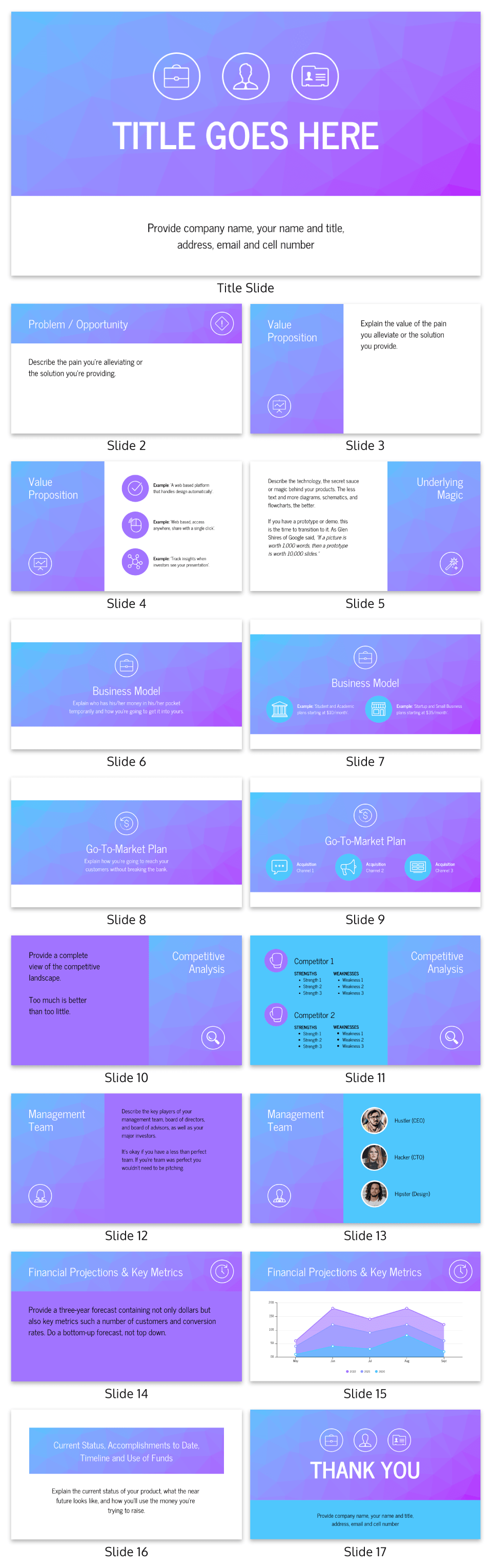 Gradient Guy Kawasaki Pitch Deck Template