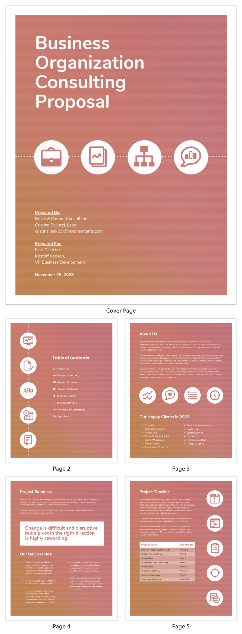 Project Business Consulting Proposal Template
