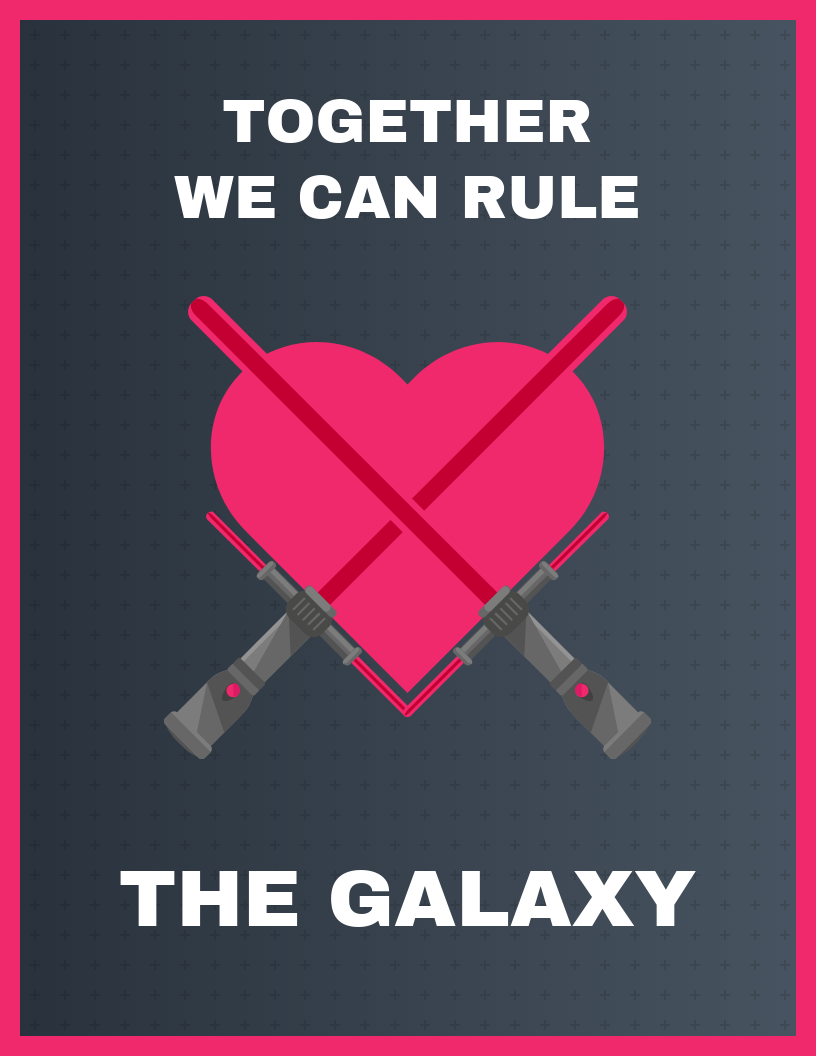 Funny Star Wars Valentine's Day Card Template