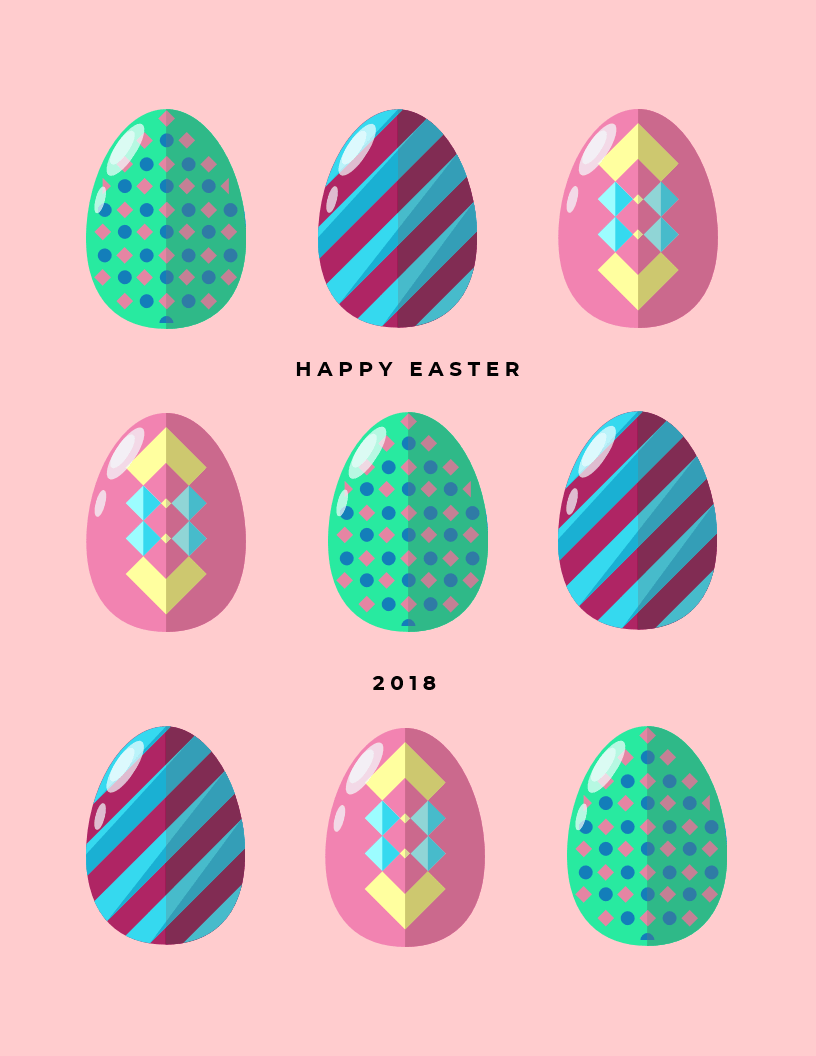 Simple Easter Card Template