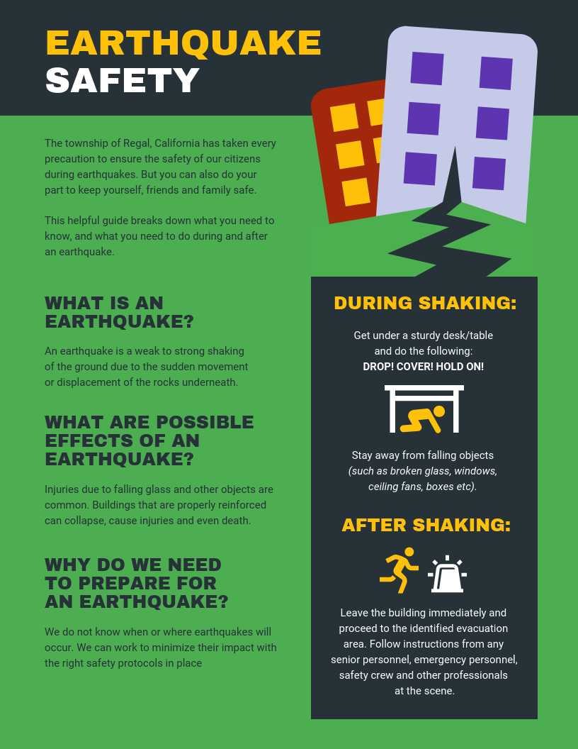 Newest For Brochure Information About Earthquake