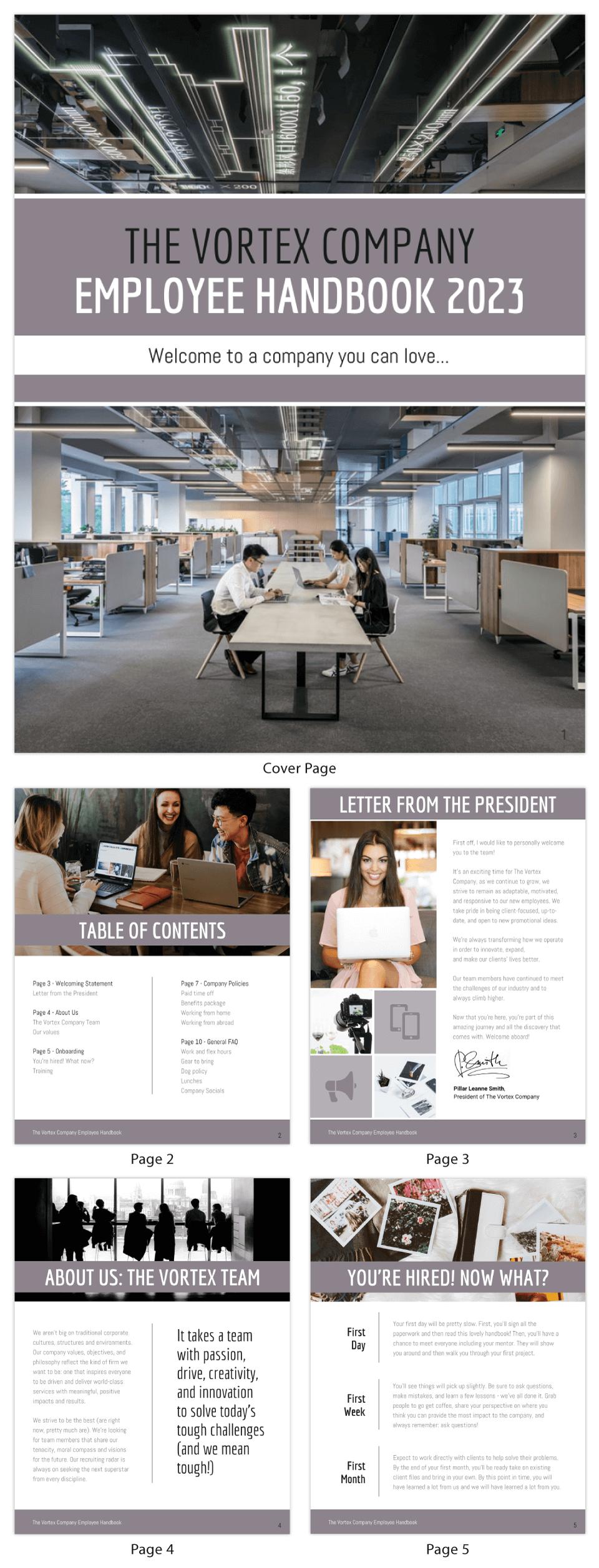 Simple Agency Employee Handbook Template