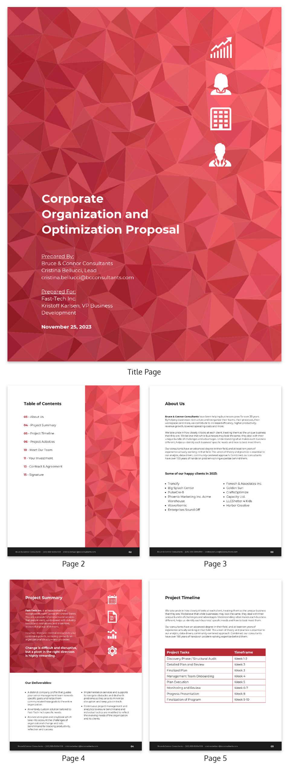 abstract business consulting proposal template template