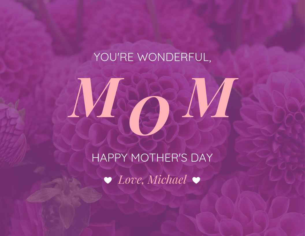Beautiful Mother's Day Card Template