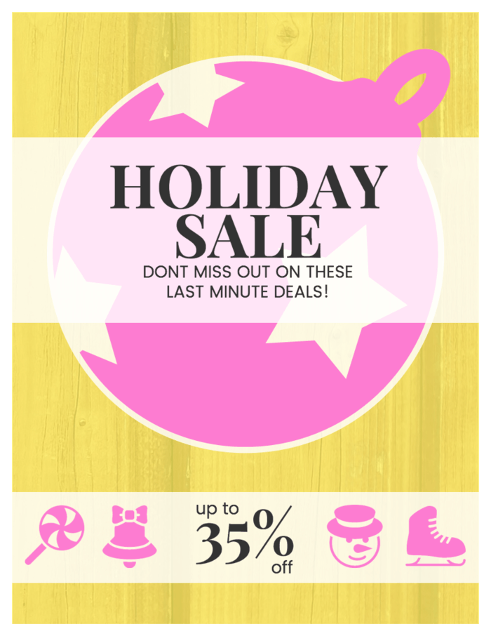 Holiday Sale Promo Poster Template