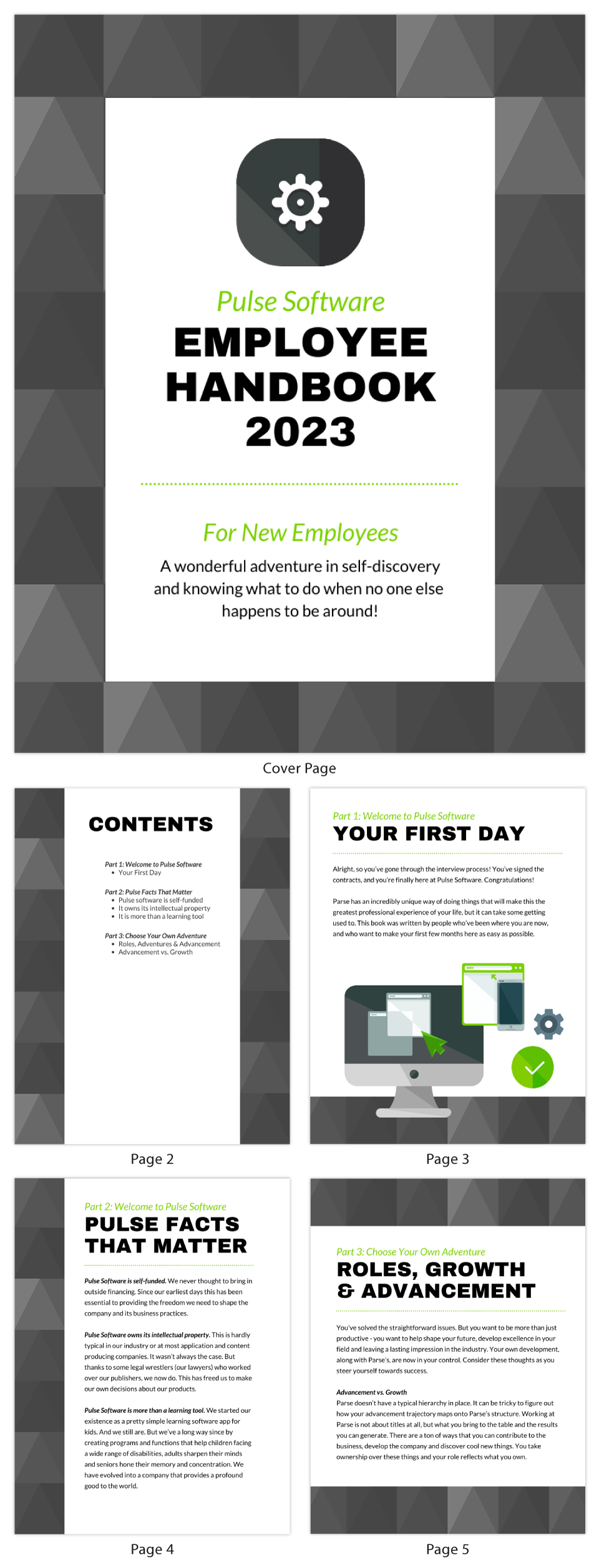 Software Company Employee Handbook Template