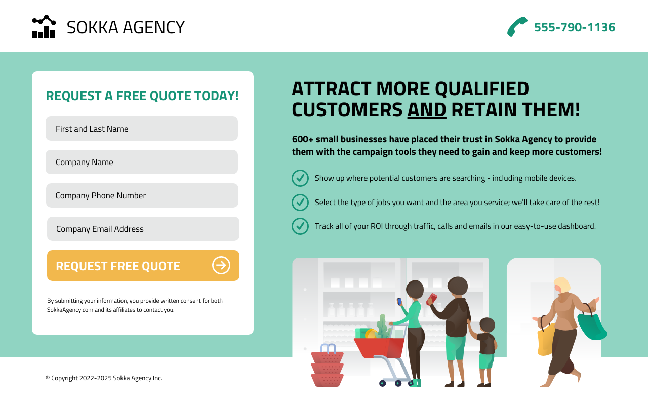 Agency B2B Services Quote Landing Page Template