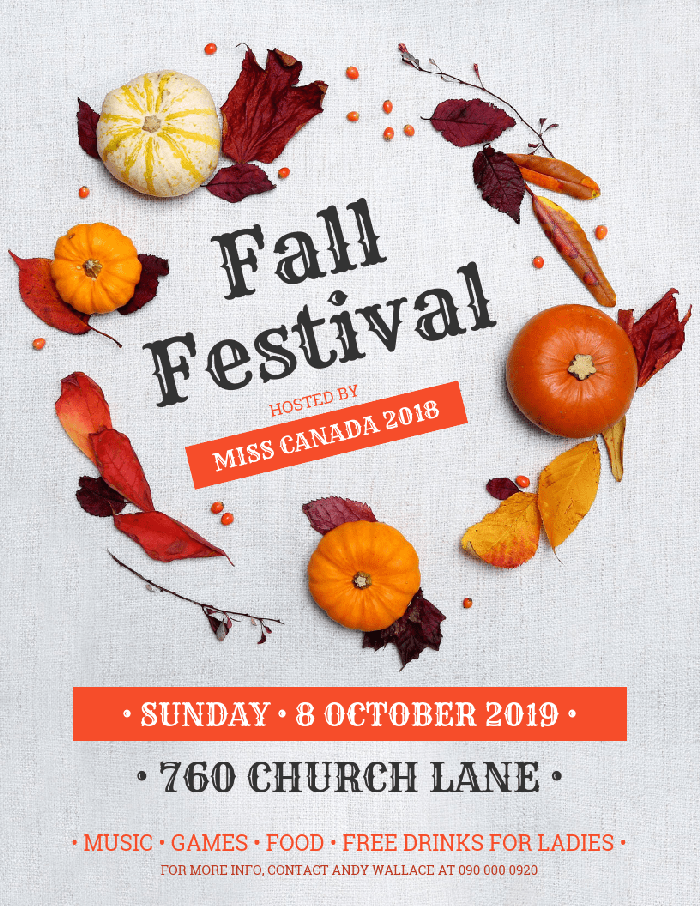 fall festival flyer template template