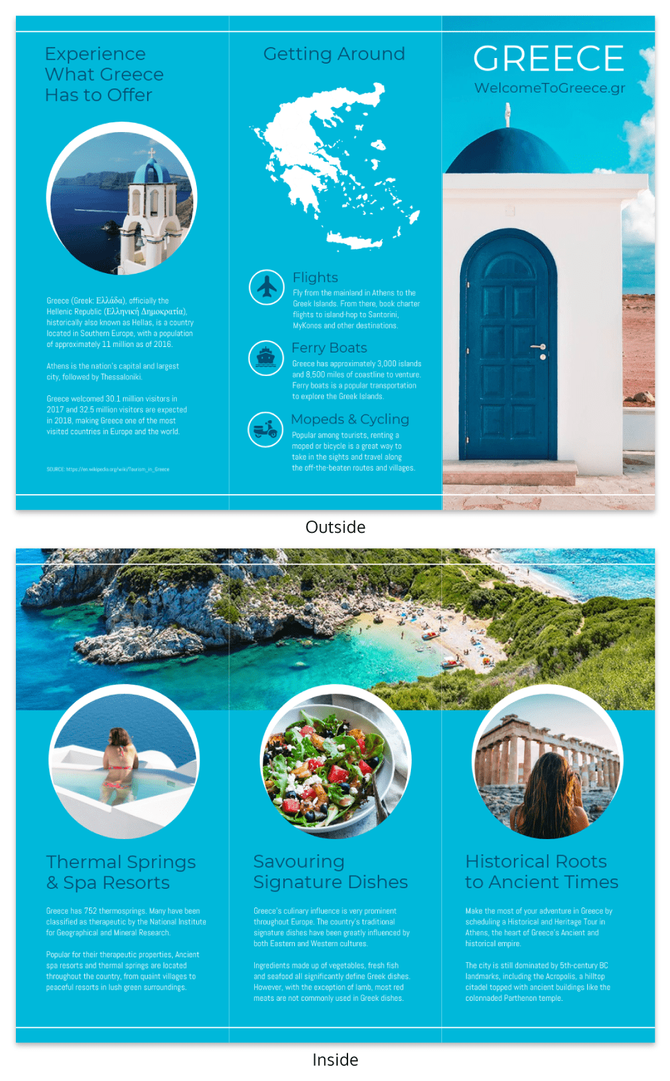 World Travel Tri Fold Brochure Template - Venngage