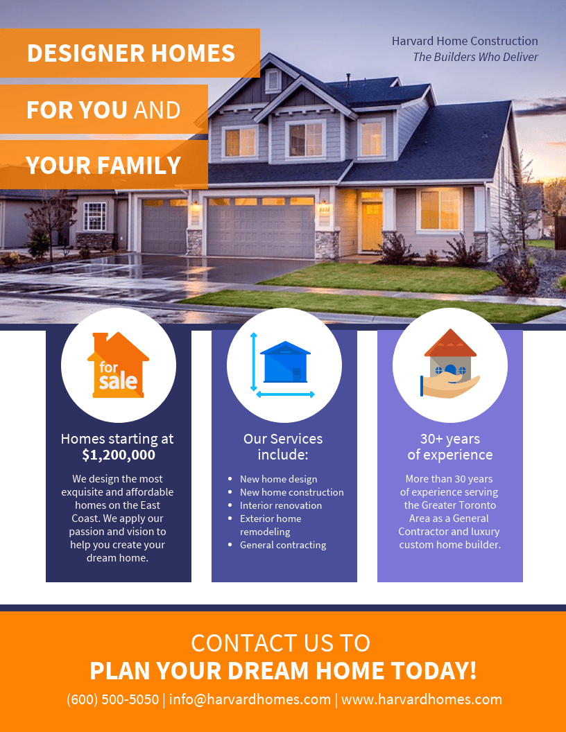 Real Estate Marketing Pamphlet Template