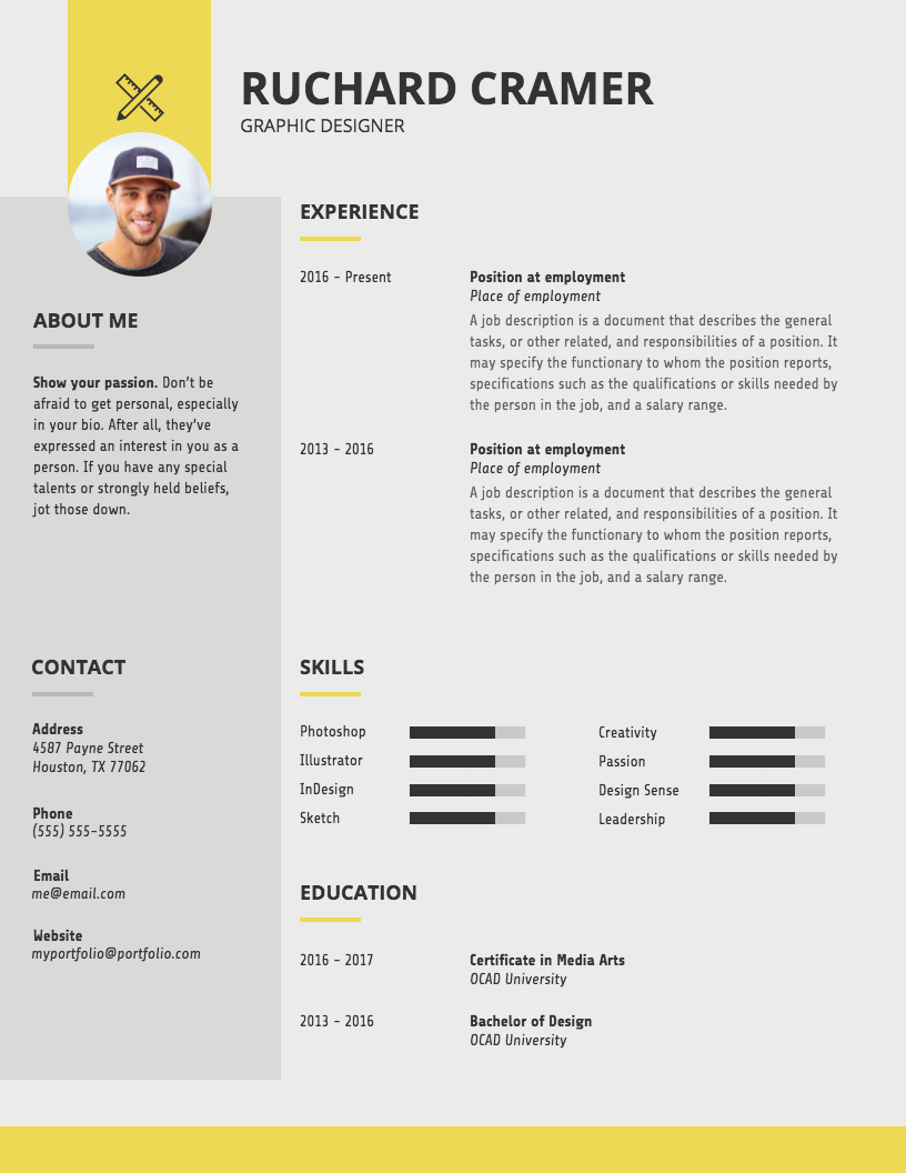 Modern Graphic Designer Resume Template