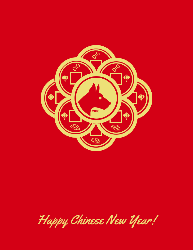 happy chinese new year card template venngage