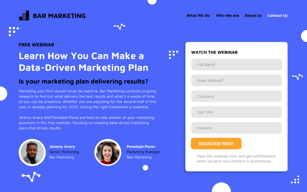 Email Capture Landing Page Template