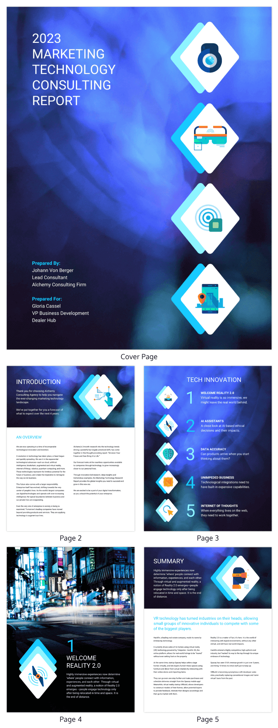 Marketing Tech Recommendation Report Template