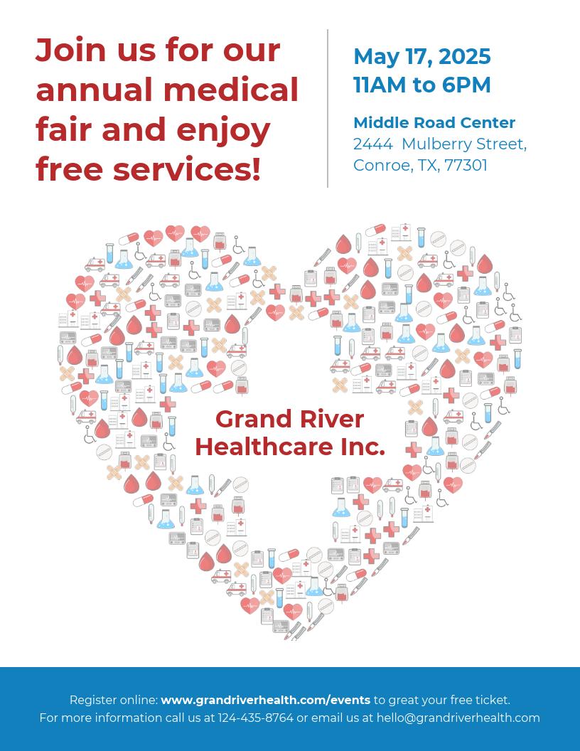 Light Healthcare Event Flyer Template