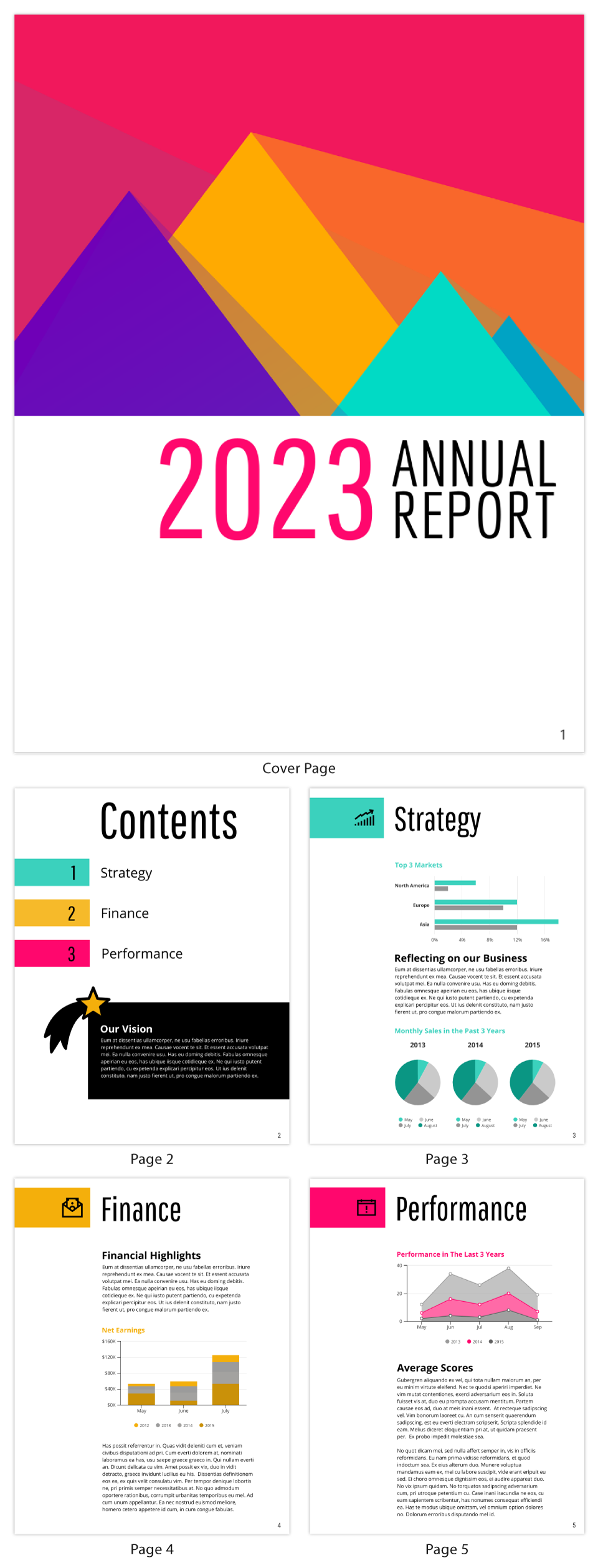 Annual Finance Report Template