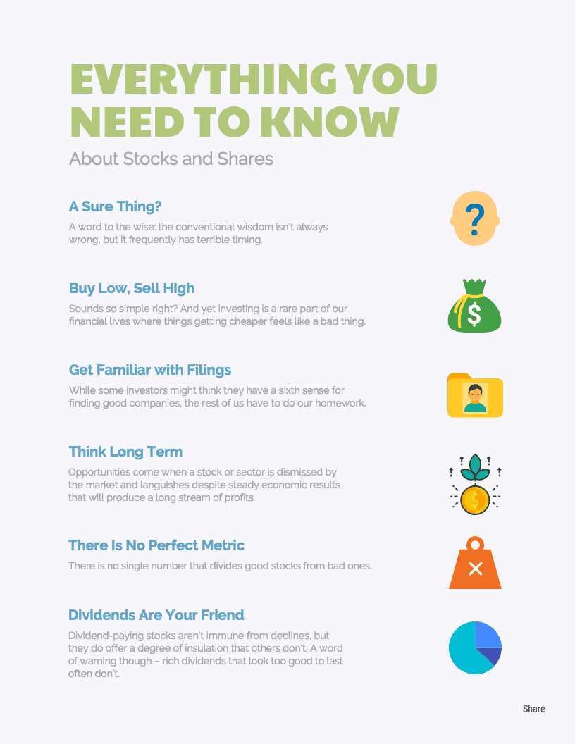 Financial Tips Infographic Template